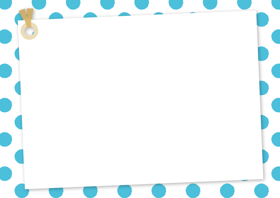 フリーイラスト 水玉模様とメッセージカードの背景でアハ体験