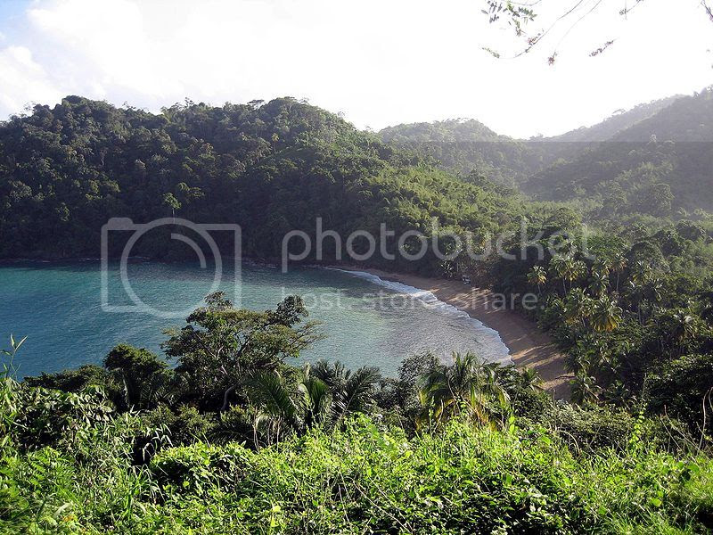 Englishman's Bay Beach in the Caribbean