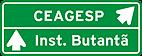 Placa de Orientacao de Destino - Placa indicativa de sentido (direcao) 01