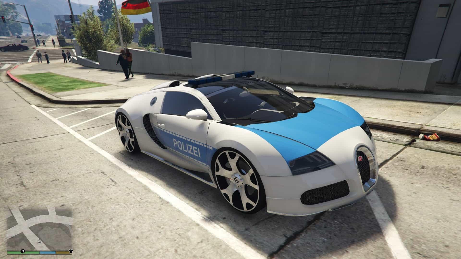 Bugatti Veyron Polizei-Lackierung 1.0 - GTA 5 Mod | Grand Theft Auto 5 Mod