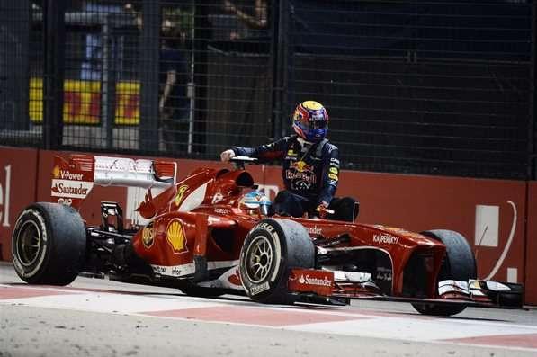 GP de Cingapura de 2013: australiano Mark Webber e o espanhol Fernando Alonso