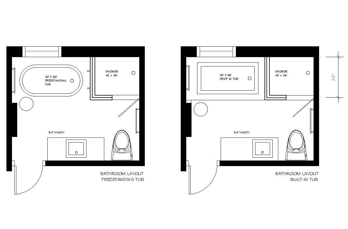 Home Architec Ideas Bathroom Floor Plan Design Ideas