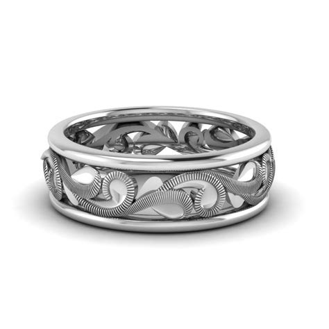 filigree eternity wedding band   platinum
