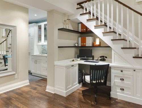 "Great use for the ""under the stairs"" spot!"