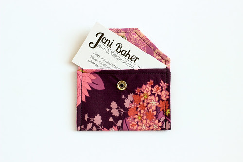 Fabric Envelopes Tutorial - Small by Jeni Baker