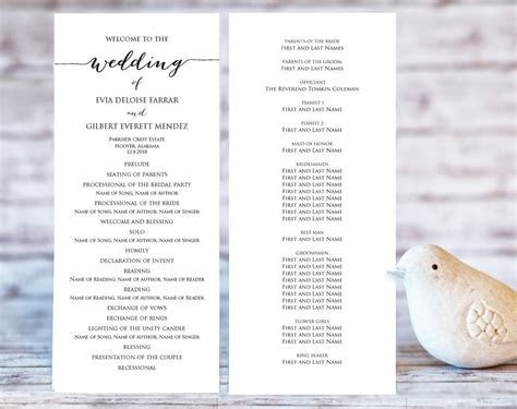 Wedding Programs · Wedding Templates and Printables