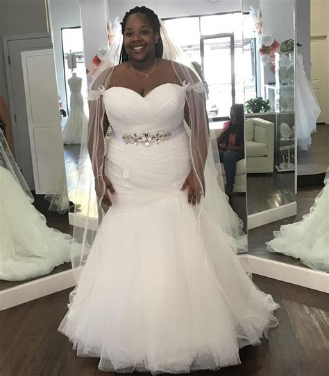 Strapless Plus Size Fit n Flare Wedding Dress from Darius