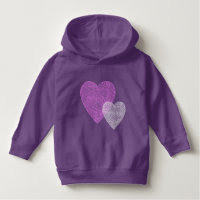 Pink and Purple Scribbleprint Hearts Tshirt