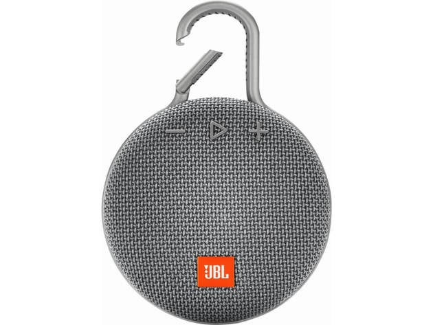 JBL CLIP3GRY Clip 3 Portable Bluetooth Speaker - Stone Gray for $69