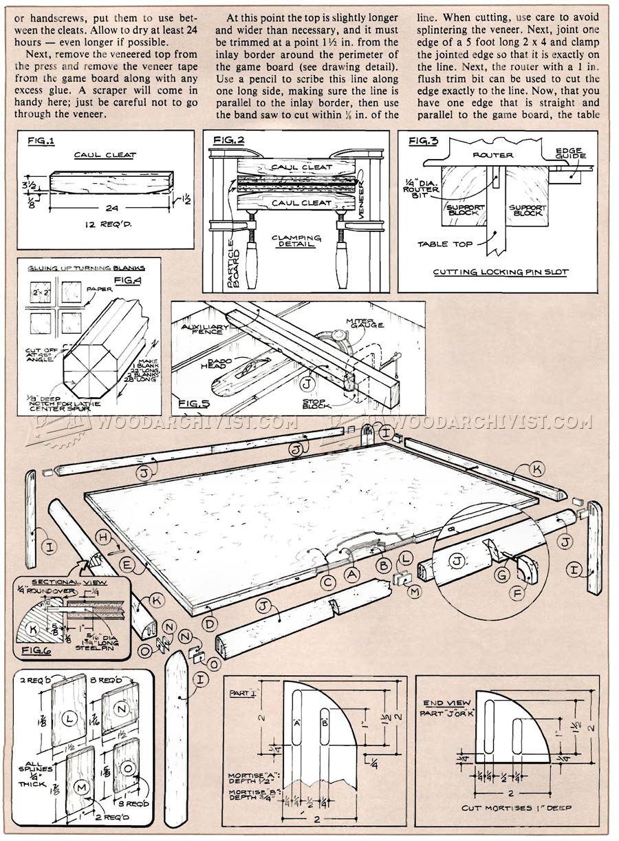 Game Coffee Table Plan • WoodArchivist