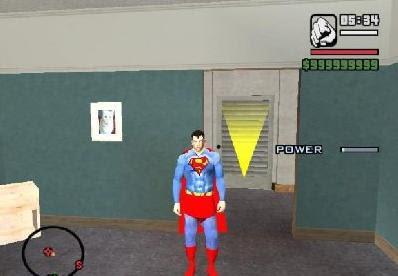 باتش تحويل شخصية gta san andreas الى سوبر مان mode supermen gta san