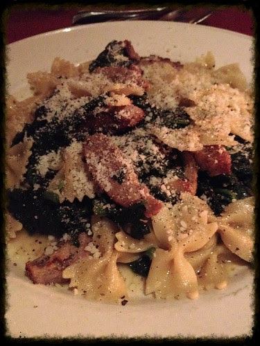 Farfalle with Sausage and Spinach