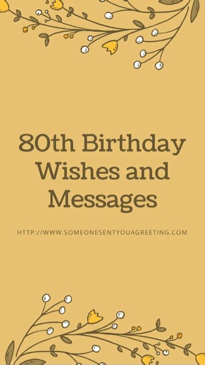 80th Birthday Wishes ? Someone Sent You A Greeting