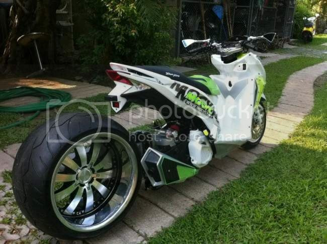 underbone tuner: Wide Tire Scooter by JunShop: Suzuki