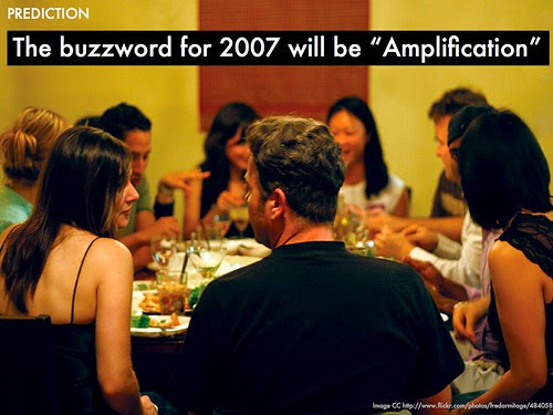 PREDICTIONS buzzword for 2007 will be amplification
