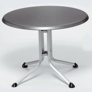 kettler gartentisch rund 100cm aluminiumgestell wei kettalux plus platte sonderkonditionen. Black Bedroom Furniture Sets. Home Design Ideas