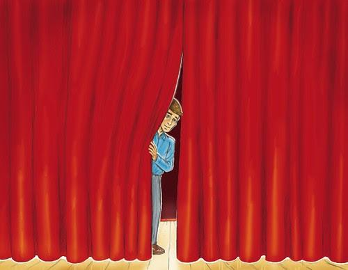 Art Portfolio: Curtain Peek
