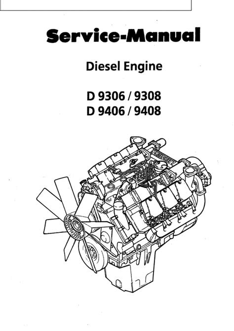 LEBHERR Diesel Engine D9406 D9408 Service Repair Manual