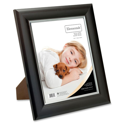 First Base Elementals 8x10 Easy Insert Frame Satin Mocha Fst83930