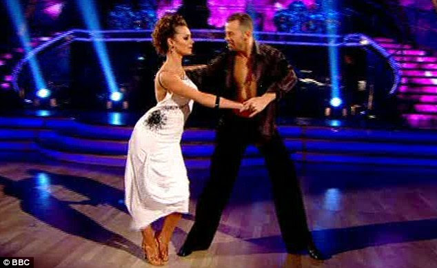 Emotional: Kara struggled to control her tears as she spoke about her experience on Strictly before taking to the dancefloor to perform the Rumba