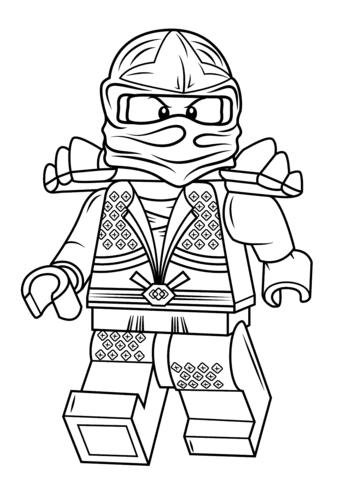 lego ninjago lloyd zx coloring page  free printable