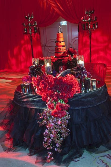 Gothic Wedding Sweetheart Table by Mindy Weiss   Wedding