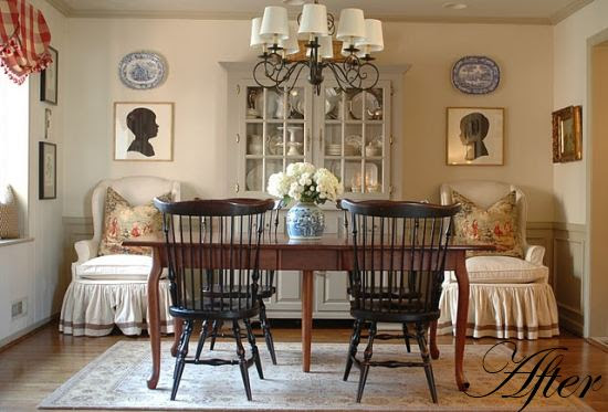 Pretty Dining Room: Before & After | Holly Mathis Interiors