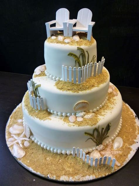 78 best Beach Wedding Cakes images on Pinterest   Beach