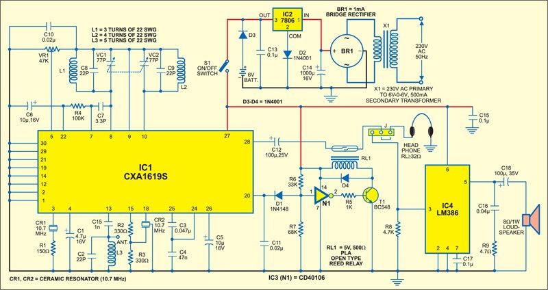 Fm Receiver Circuit Using Ic 1619