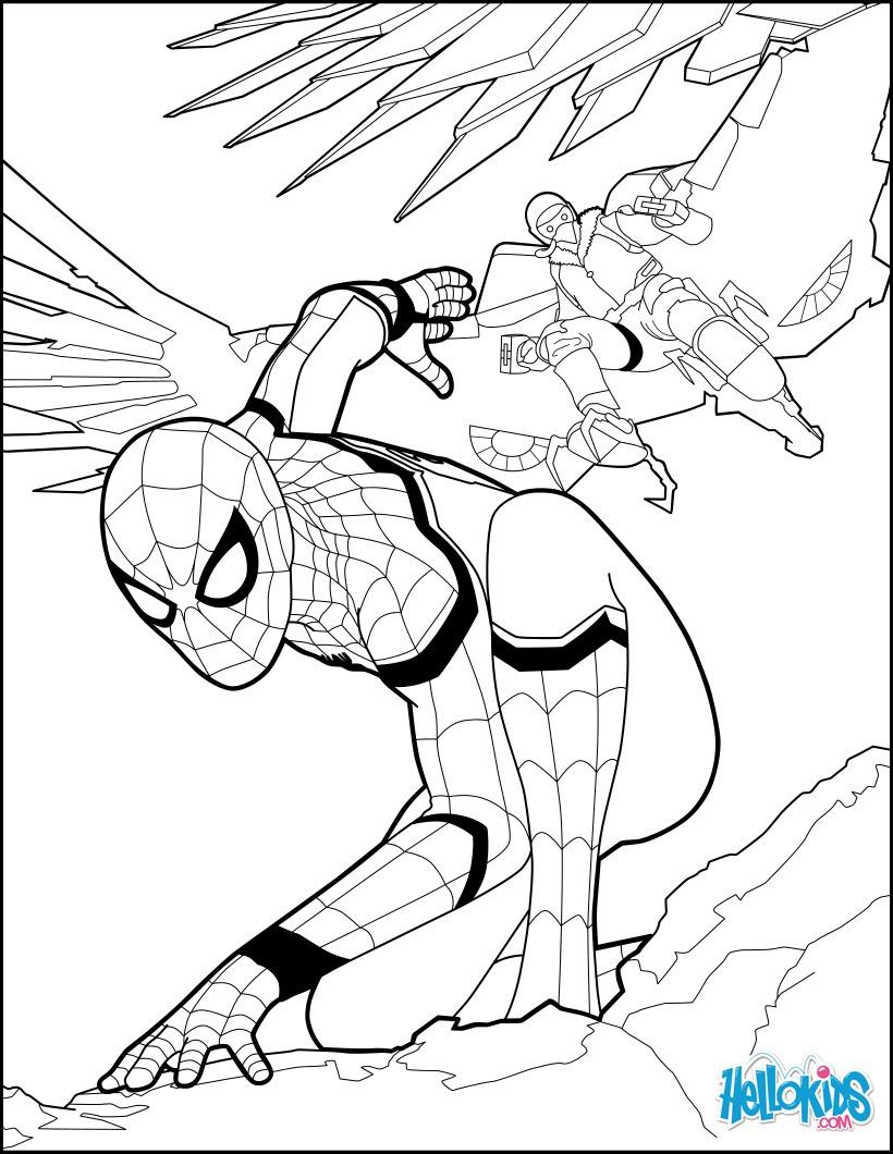 Coloriage Spiderman Coloriages Coloriage à Imprimer Gratuit Fr