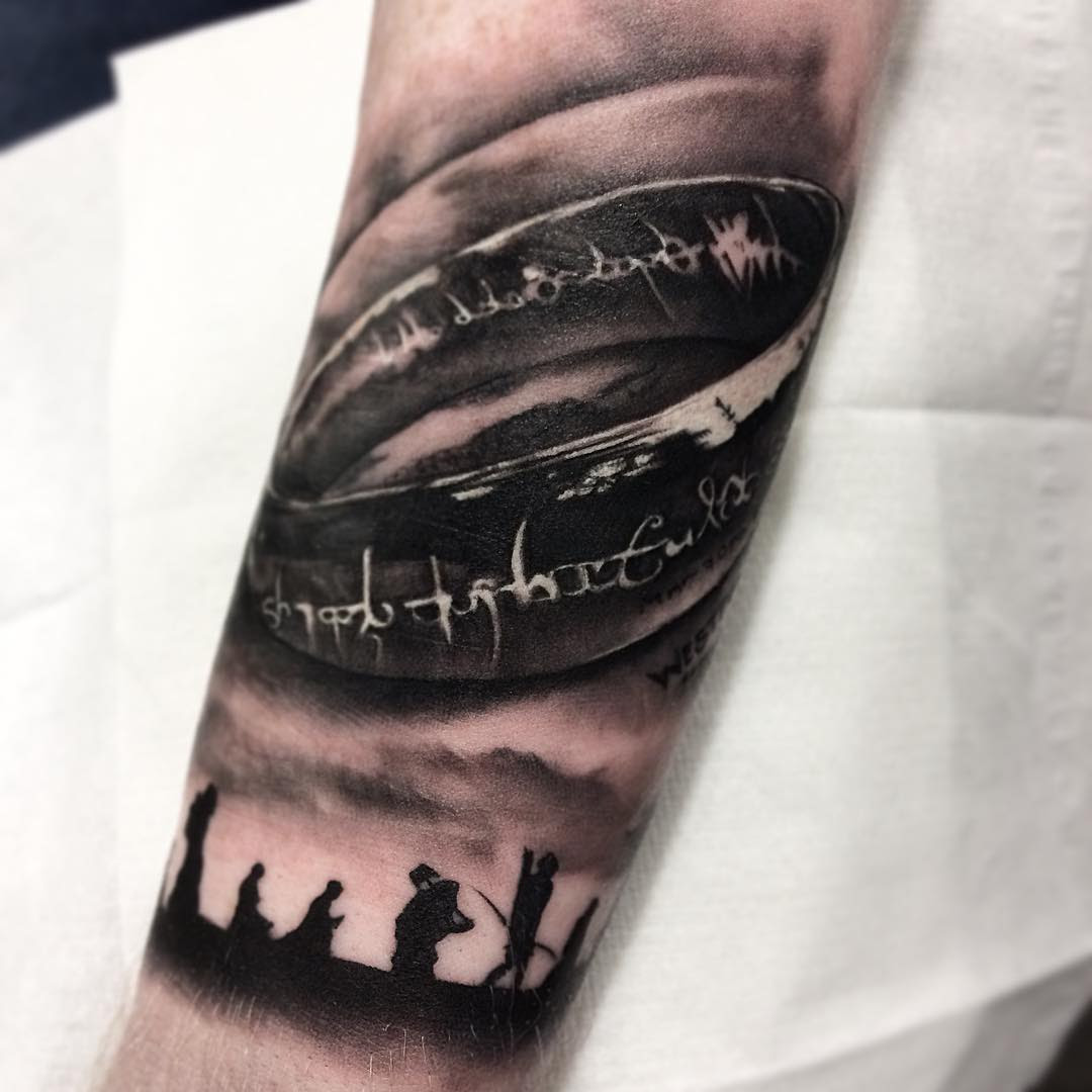 Lord Of The Rings One Ring Tattoo Modern Body Art