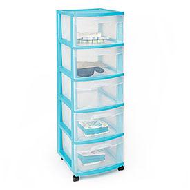 Sterilite 5-Drawer Plastic Storage Carts