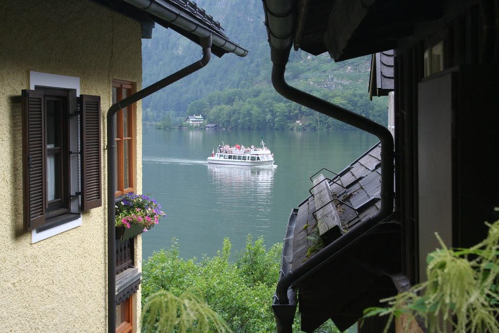 Skib på Hallstätter See
