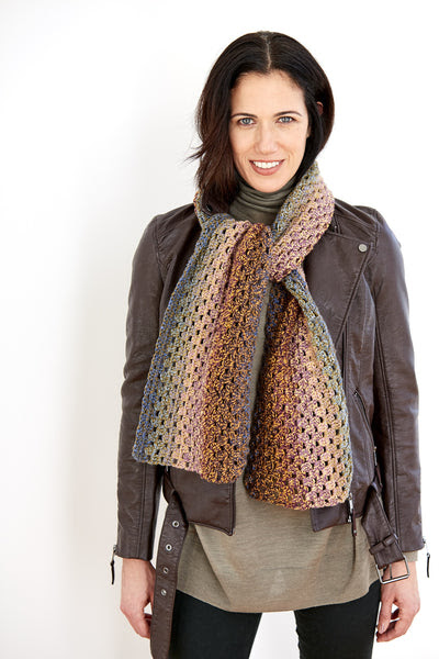 Granny Stripe Scarf (Crochet)