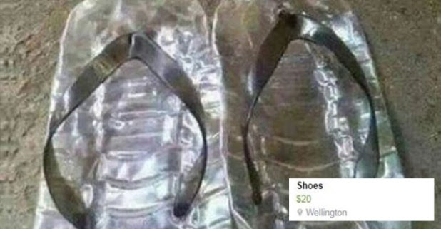 Woman from New Zealand Sells A Pair of Thongs Made from Plastic Bottles