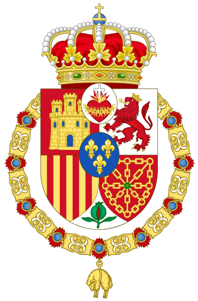 File:Coat of Arms used by the supporters of the Carlist Claimants to the Spanish Throne (adopted c.1890).svg