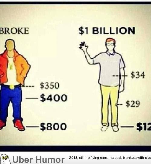 Broke People Vs Billionaires Funny Pictures Quotes Pics Photos