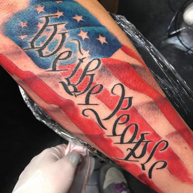 85 Best Patriotic American Flag Tattoos I Love Usa 2018