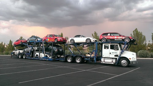 Loaded on the transporter