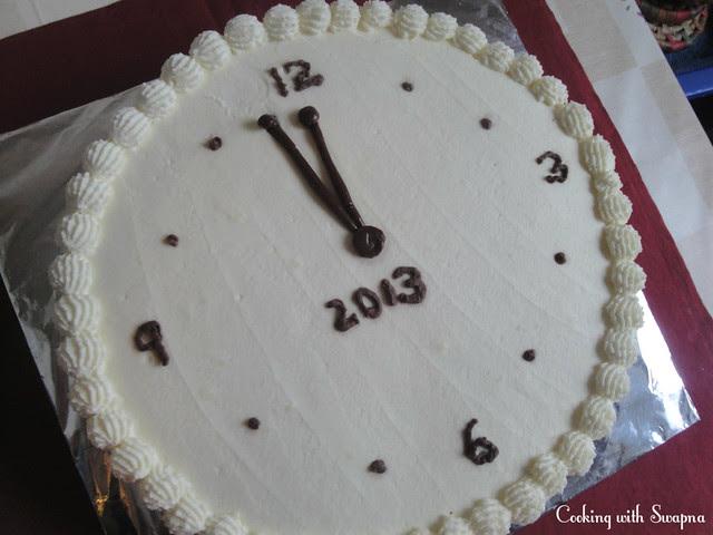 clock cake 1