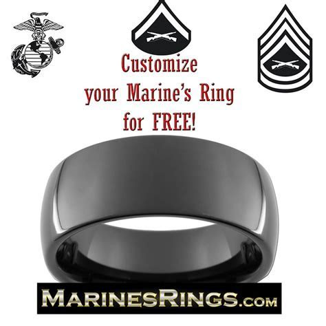 8 best images about Black Tungsten USMC Rings on Pinterest