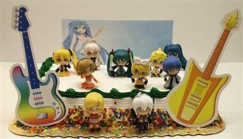 Hatsune Miku Birthday Cake Topper Set Featuring Kagamine