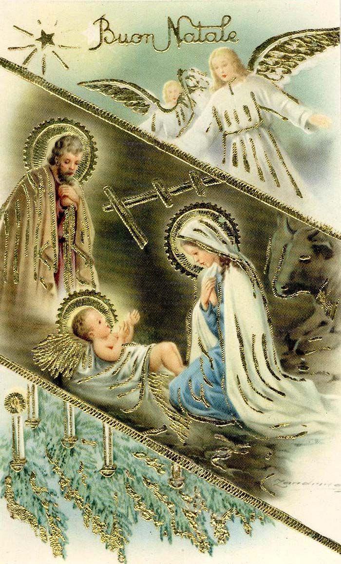 Lovely vintage Nativity card