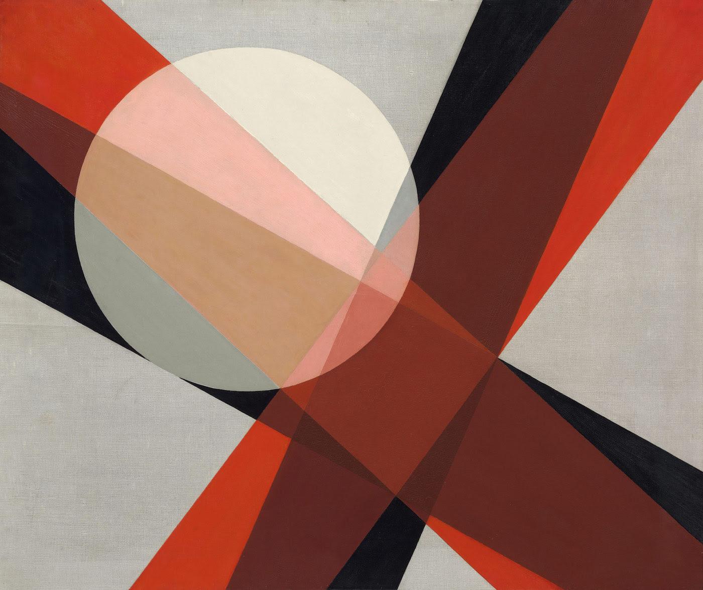 "László Moholy-Nagy, ""A 19"" (1927), oil and graphite on canvas, 80 × 95.5 cm (courtesy Hattula Moholy-Nagy, © 2016 Hattula Moholy-Nagy/VG Bild-Kunst, Bonn/Artists Rights Society (ARS), New York)"