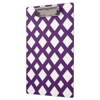 Purple Lattice on White Clipboards