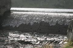 Overflowing weir at Blea Tarn