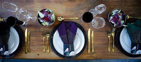 Striking Purple, Black   Gold Wedding Decor Ideas