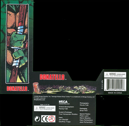 Neca TMNT // Card Single ..DONATELLO  front name plate .. (( 2008 ))