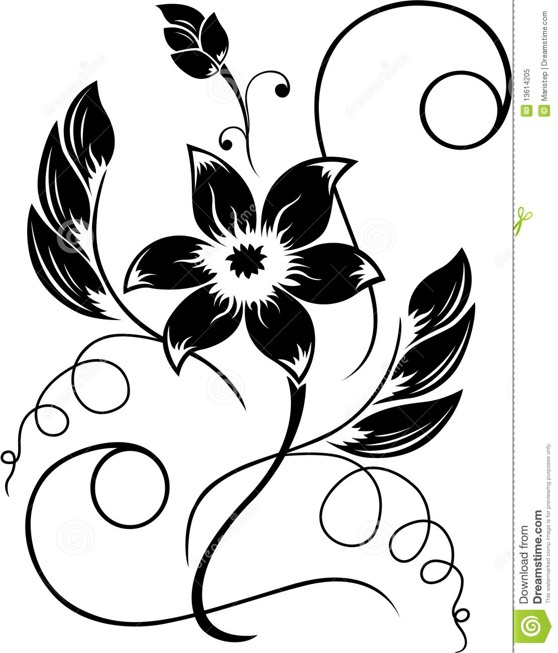 Flower Black A White Pattern Clipart Panda Free Clipart Images