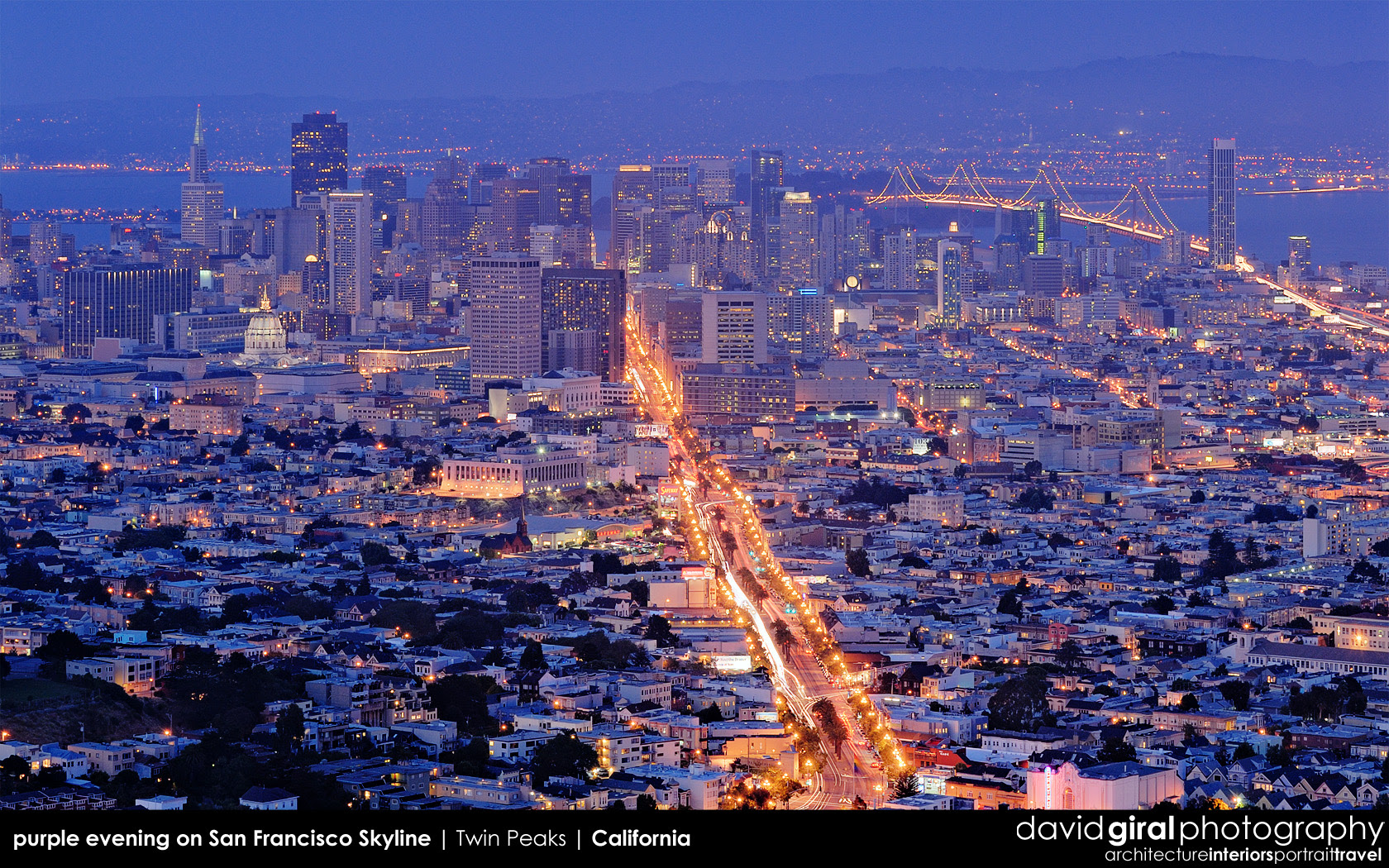 Weekly Facebook Cover Photo Purple Hour On San Francisco Skyline
